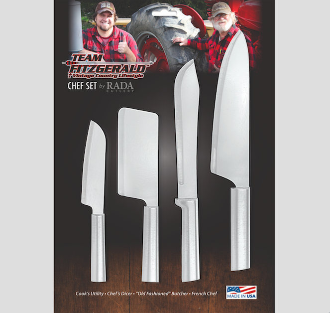 NEW ITEM - RADA CUTLERY CHEF SET - TEAM FITZGERALD SIGNATURE