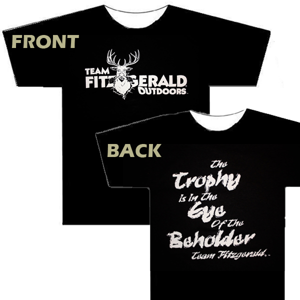 "HOSS BUCK ""TROPHY IS IN THE EYE OF THE BEHOLDER"" SLOGAN BLACK T"